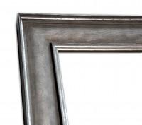 Industrial Chic Rahmenleiste geprägte Oberfläche in Silber