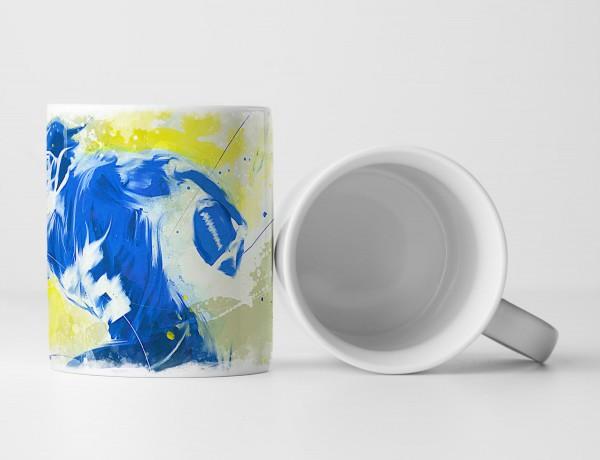 American Football Tasse als Geschenk, Design Sinus Art