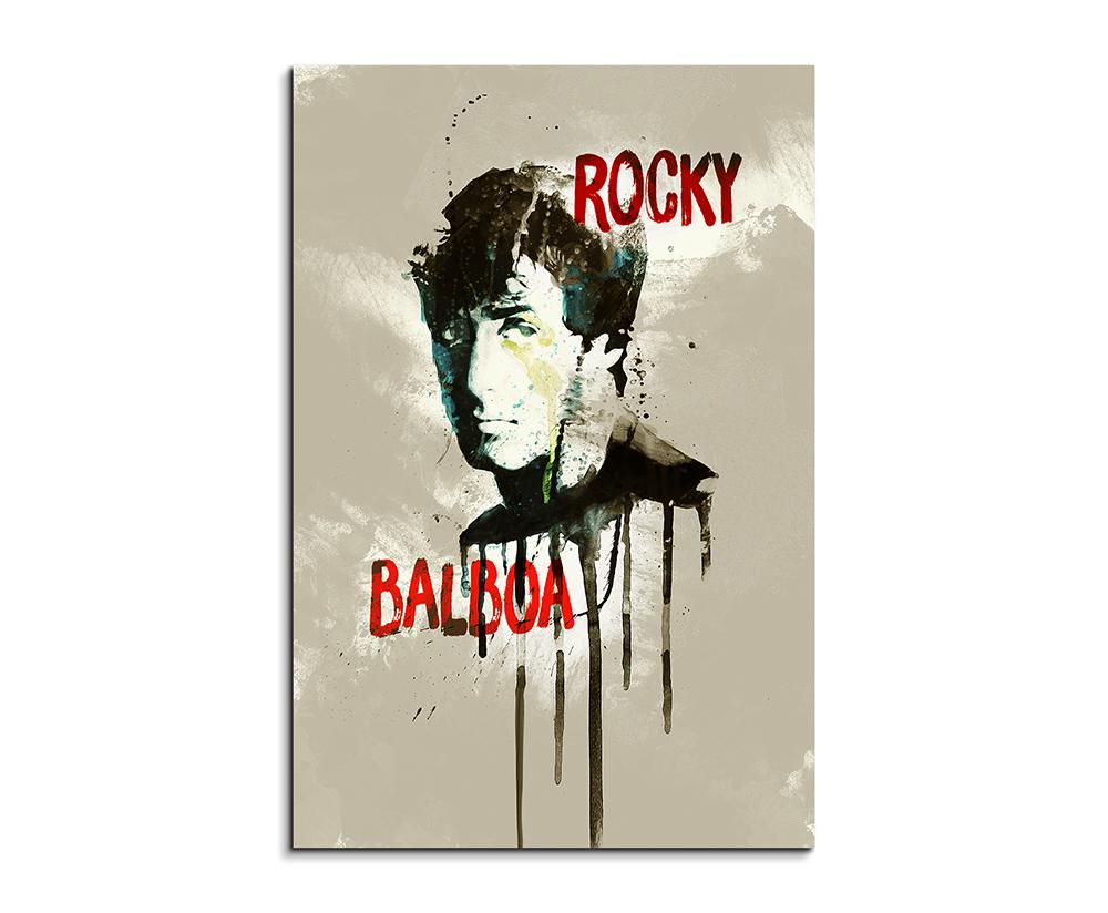 Rocky Balboa 90x60cm Aquarell Art Wandbild auf Leinwand fertig ...