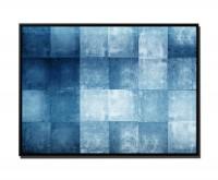 105x75cm Leinwandbild Petrol Abstrakt Vierecke geometrisch