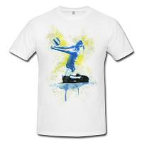 Volleyball I Premium Herren und Damen T-Shirt Motiv aus Paul Sinus Aquarell