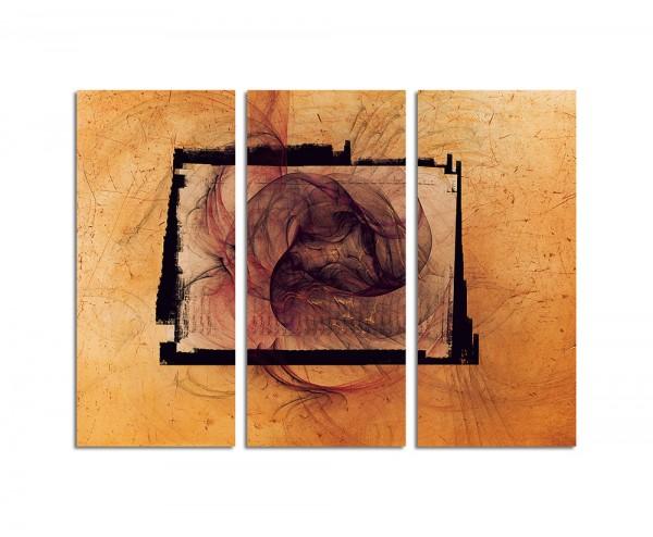 130x90cm Wandbild Abstrakt156 -3x90x40cm