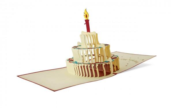 Geburtstag Tortenzauber Grußkarte Größe: 12 x 12 cm