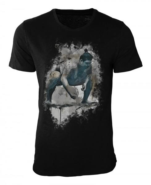 Sumo Ringer Damen und Herren T-Shirt schwarz / black