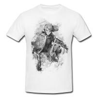 Zelda Herren und Damen T-Shirt BLACK-WHITE