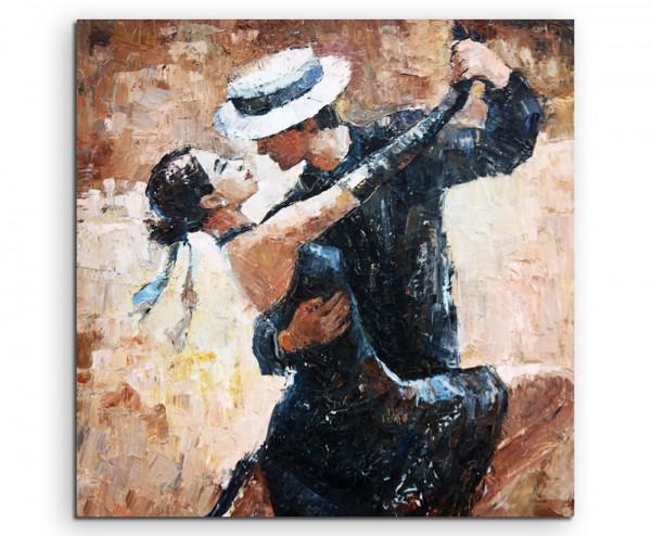 Digitales Gemälde – Tangotänzer auf Leinwand