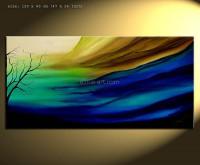 burjed 4 abstraktes Landschaftsbild blau grün weiß