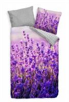 Feld Lavendel Sommer Purpur Lila Bettwäsche Set 135x200 cm + 80x80cm  Atmungsaktiv