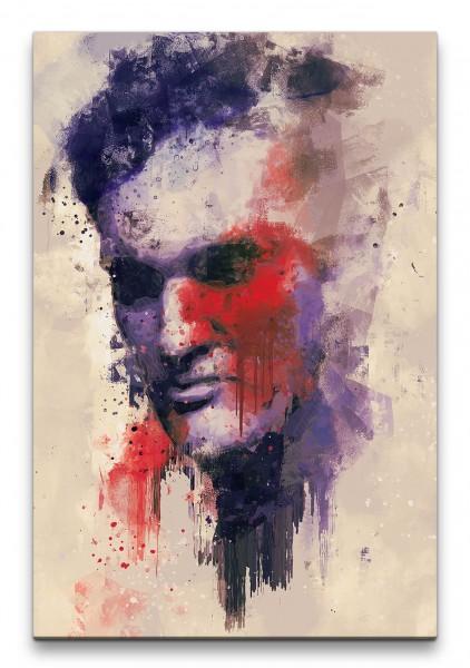 Quentin Tarantino Filmregisseur Porträt Abstrakt Kunst Genie 60x90cm Leinwandbild