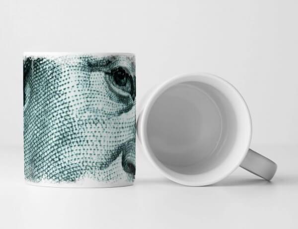 Tasse Geschenk Künstlerische Fotografie – Benjamin Franklin auf dem 100 Dollar Schein