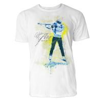 Biathlon Schuss im Stand Sinus Art ® T-Shirt Crewneck Tee with Frontartwork