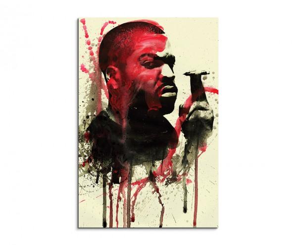 Ice Cube 90x60cm  Aquarell Art Leinwandbild