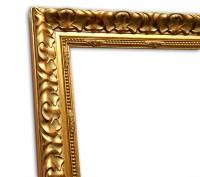 Exklusiver Echtholzrahmen klassisch in gold patiniert