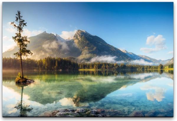 schöner See an den Alpen Wandbild in verschiedenen Größen