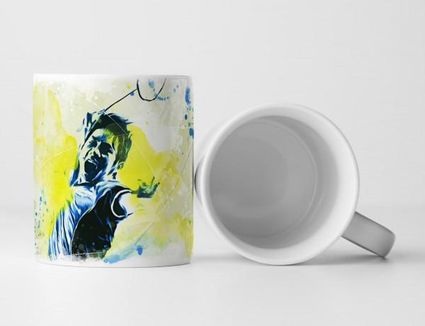 Badminton Tasse als Geschenk, Design Sinus Art