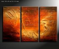 andante3 - 3 teiliges Acrylgemälde warmer Farben