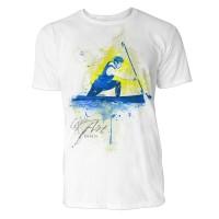Kanadier Sinus Art ® T-Shirt Crewneck Tee with Frontartwork