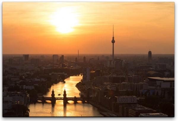 Berlin Sonnenuntergang Wandbild in verschiedenen Größen