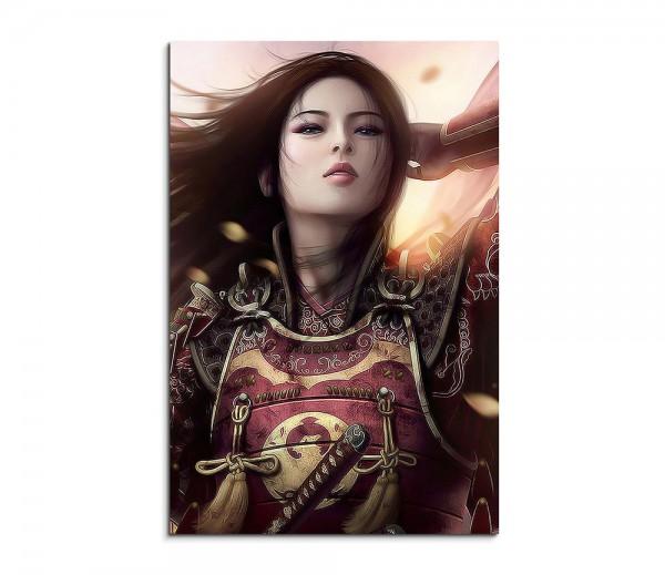 Oriental Warrior Girl 90x60cm