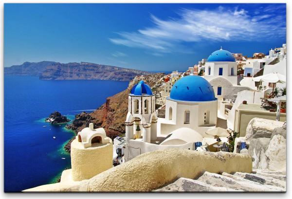 Santorini Stadt Landschaft Wandbild in verschiedenen Größen