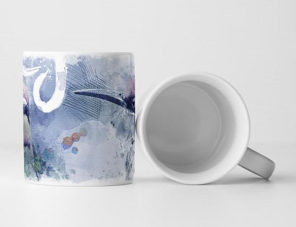 Birds II Tasse als Geschenk, Design Sinus Art