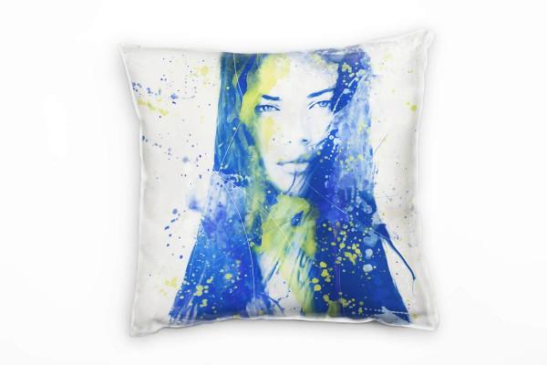 Adriana Lima IV Deko Kissen Bezug 40x40cm für Couch Sofa Lounge Zierkissen