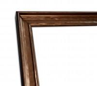 Industrial Chic Rahmenleiste schmal in Bronze leichte Patinierung