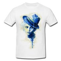 Vanessa Paradis I Premium Herren und Damen T-Shirt Motiv aus Paul Sinus Aquarell