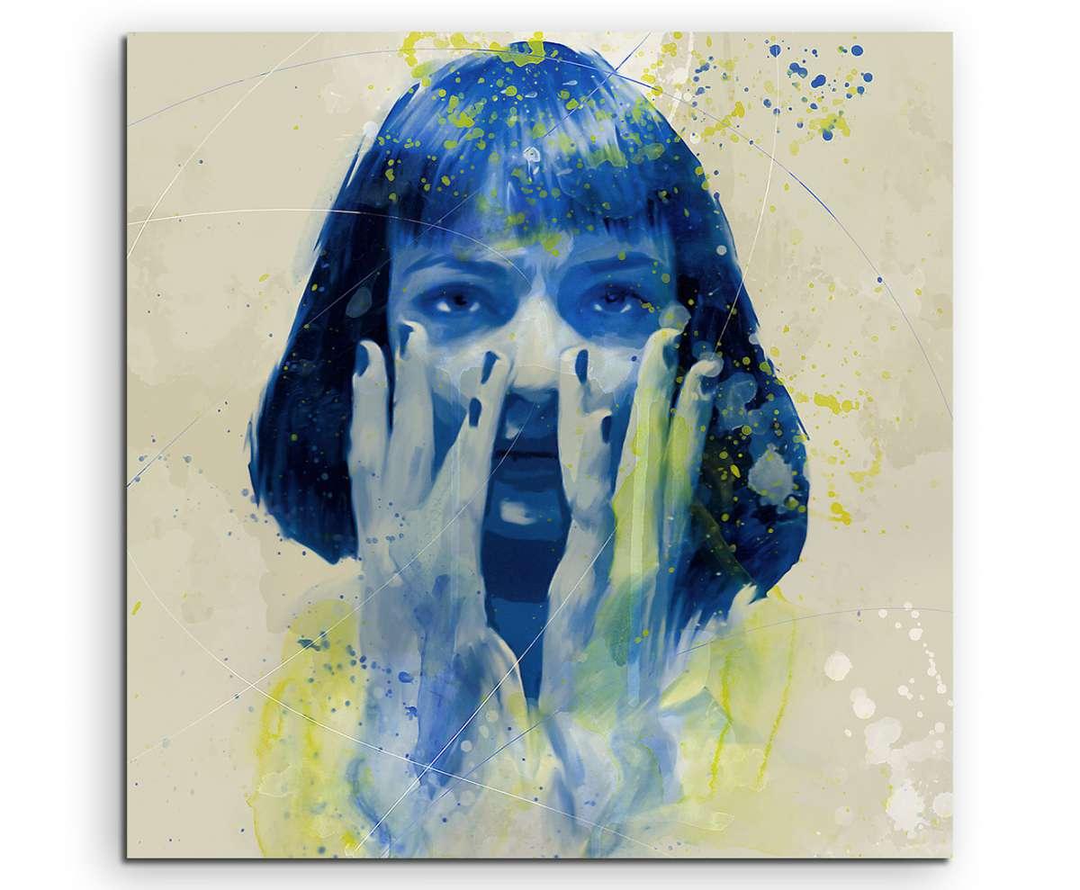 Uma Thurman Pulp Fiction IV Aqua 60x60cm Wandbild Aquarell Art