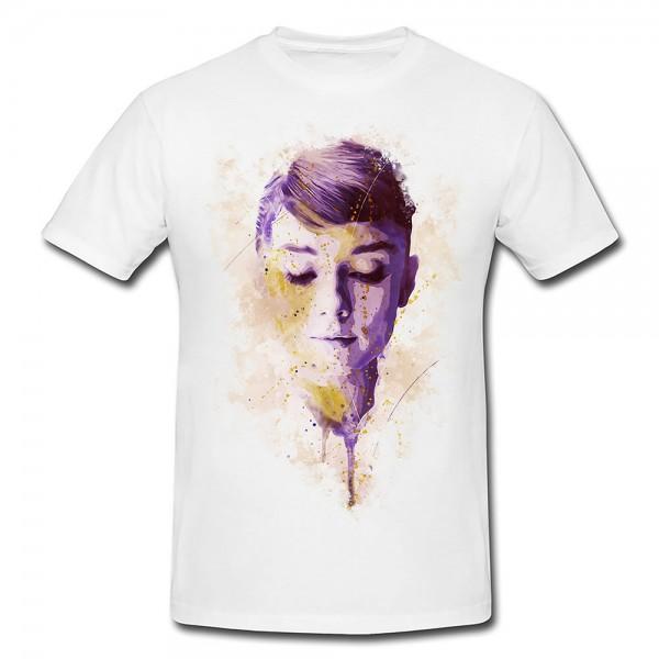 Audrey Hepburn Premium Herren und Damen T-Shirt Motiv aus Paul Sinus Aquarell