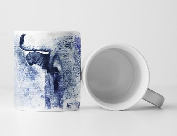 Bull II Tasse als Geschenk, Design Sinus Art