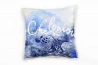 Sea Turtle Deko Kissen Bezug 40x40cm für Couch Sofa Lounge Zierkissen