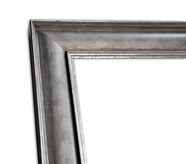 Industrial Chic schmal Rahmenleiste geprägte Oberfläche Silber