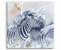 Süßes Zebrapaar mit Kalligraphie