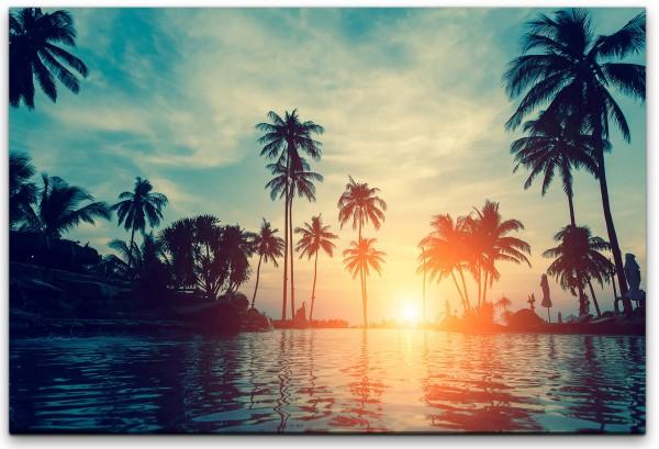 schöne tropische Palmen Wandbild in verschiedenen Größen