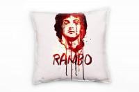 Rambo Deko Kissen Bezug 40x40cm für Couch Sofa Lounge Zierkissen