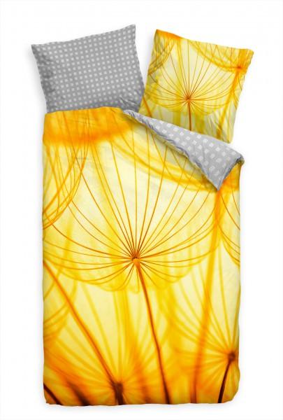 """Pusteblume Makro Gelb Orange L""""wenzahn Bettwäsche Set 135x200 cm + 80x80cm Atmungsaktiv"""