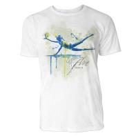 Volleyball Spielerin Sinus Art ® T-Shirt Crewneck Tee with Frontartwork