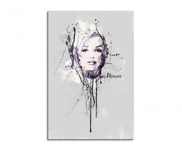 Marilyn Monroe II 90x60cm Aquarell Art Wandbild auf Leinwand fertig gerahmt Original Sinus Art
