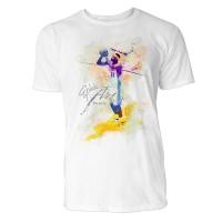 Basketball Layup Sinus Art ® T-Shirt Crewneck Tee with Frontartwork