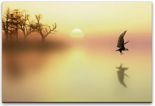 Vögel in Landschaft Wandbild in verschiedenen Größen