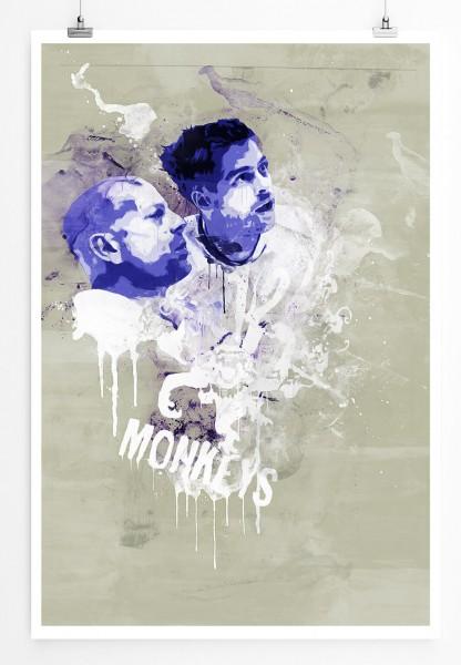 12 Monkeys 90x60cm Paul Sinus Art Splash Art Wandbild als Poster ohne Rahmen gerollt