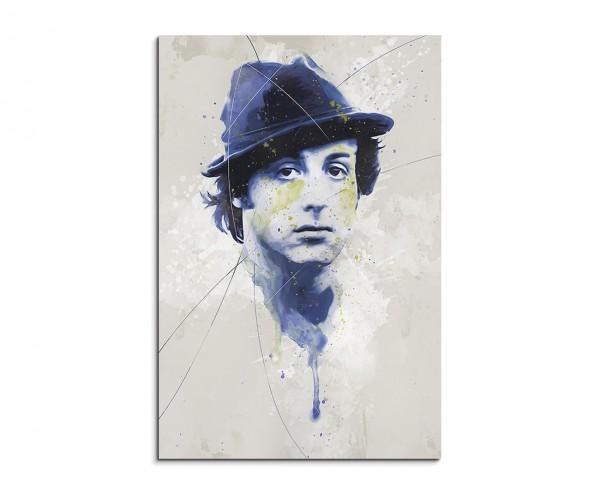 Rocky Sylvester-Stallone Aqua 90x60 cm Aquarell Kunstbild
