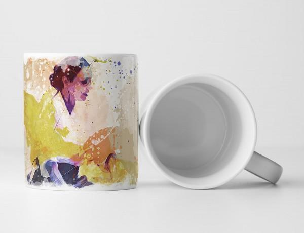 Aikido Tasse als Geschenk, Design Sinus Art