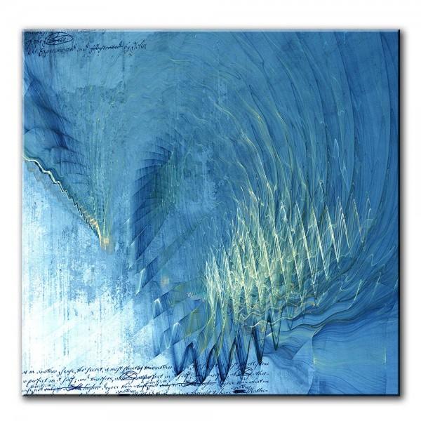 Wellenritt, abstrakt, 60x60cm