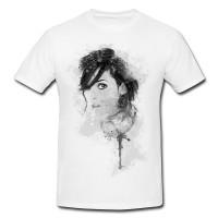 Winona Ryder I Herren und Damen T-Shirt BLACK-WHITE