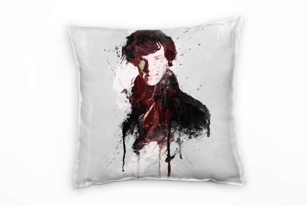 Sherlock Holmes Deko Kissen Bezug 40x40cm für Couch Sofa Lounge Zierkissen