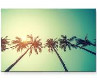 Retro Palmen – Fotografie Vintage - Leinwandbild