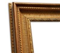 Exklusiver Echtholzrahmen Antik gold-rot glänzend edel