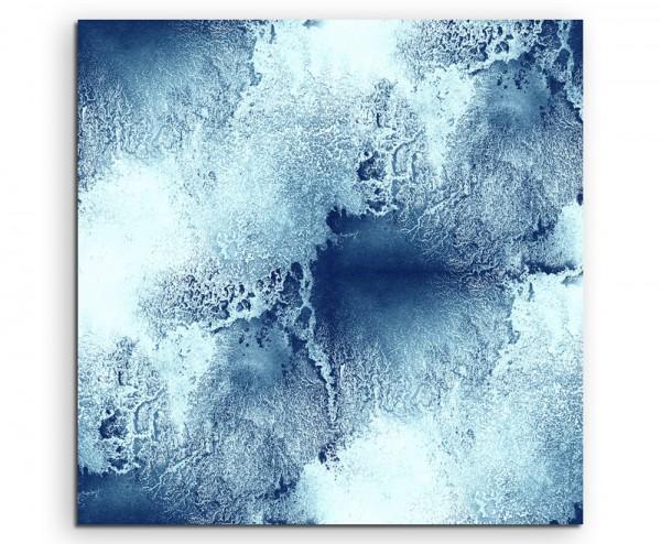 Blaue abstrakt modern chic chic dekorativ schön deko schön deko e Meerwellen auf Leinwand